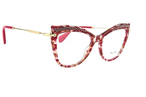 92e3af8b719 Miu Miu - Monture de lunettes - Femme Multicolore Tartarugato Bordeaux E  Cipria Taille unique