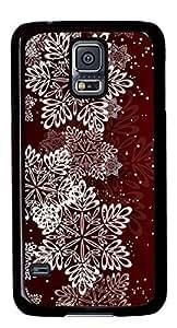 Beautiful Snowflake Illustration DIY Hard Shell Black Samsung Galaxy S5 I9600 Case Best Designed Protection By Custom Service