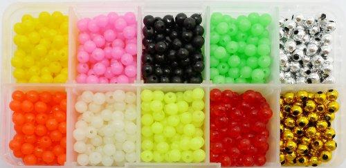 "Standard 0.2"" Fishing Plastic Lure Making Beads Kit 100pcs Each of 10 Colors"