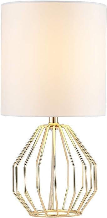 COTULIN Lámpara de mesa, lámparas doradas para recámara, moderna ...