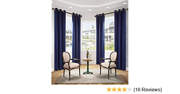 "Lullabi Room Darkening Window Curtain , Navy, 42"" x 84"" (Pack of 4)"