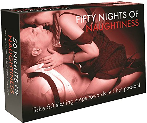 Fifty Nights Of Naughtiness - Adult Card Game For Couples - Bundle - 2 Items