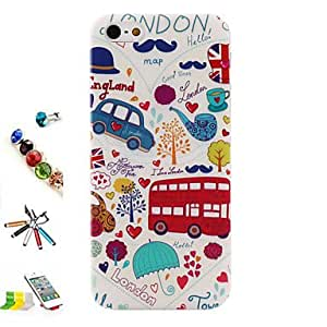 YULIN Funda Trasera - Gráficas/Dibujos/Diseño Especial/Anime - para iPhone 5/iPhone 5S ( Multicolor , TPU )