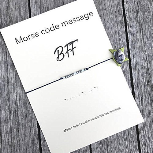 amazon com bff morse code bracelet birthday gift for friend bff
