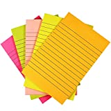 Selizo 5 Pads Sticky Notes Lined, 4 in x 6 in, 50 Sheets/Pad