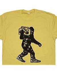 Stereo Bigfoot T Shirt Beastie Sasquatch Shirts Vintage Jam Band Music Reggae 80s 90s Hip Hop DJ Tshirt Tee