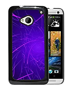 New Beautiful Custom Designed Cover Case For HTC ONE M7 With Purple Line Background Phone Case