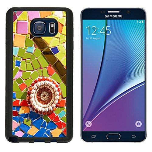 Glazed Aluminum - MSD Premium Samsung Galaxy Note 5 Aluminum Backplate Bumper Snap Case Colorful glazed tile background Image ID 24866438