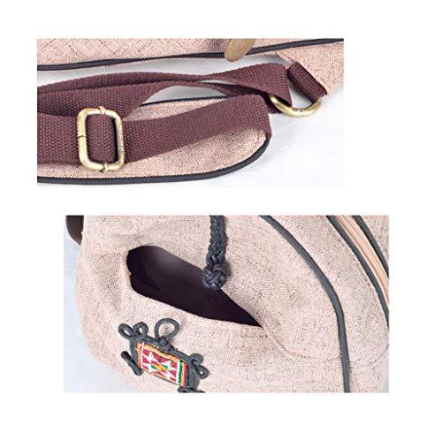 voyage aux aux en créatif toile sac pour et de ethnique petit main voyages sac sports sac dos femme en Sac toile femme Convient sac à pour à 6X46xn8