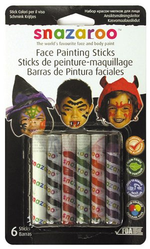 6 Pack Face Painting 6-Stick Halloween Set (Product Catalog: Paints, Brushes & Inks)]()