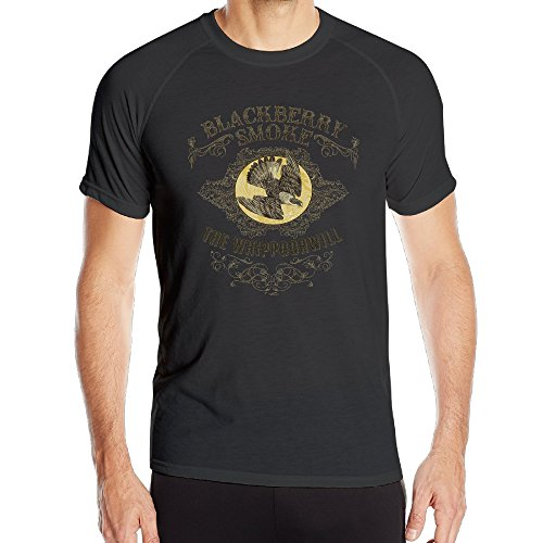 MayDay Blackberry Smoke-The Whippoorwill Men's Cotton Short Sleeved Athletic Fit T-shirt - Swift Nerd Taylor