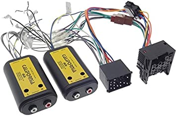 Verstärker Adapter 4 Kanal Cinch Kabel Rundpin Stecker Elektronik