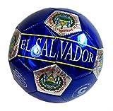 High Quality Soccer Ball Size 5 - U.S.A, Barcelona, El Salvador, Spain, Mexico, Italy, Brasil, Polka, Guatemala, Madrid, Argentina (El Salvador Blue)