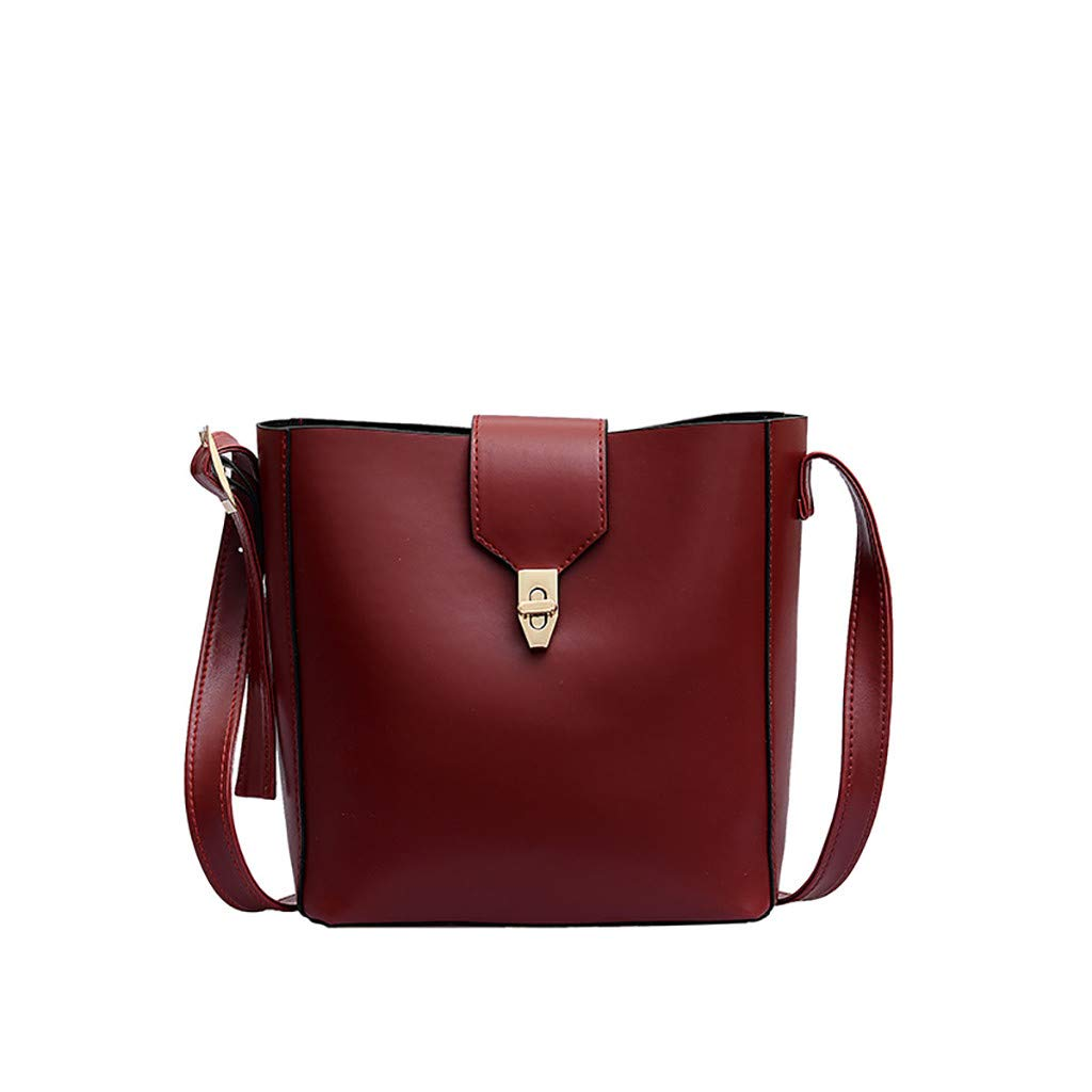 91190b71655d Amazon.com: Bucket Bag JIUDASG Women Large Capacity Lock Messenger ...