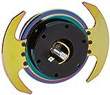 NRG Innovations SRK-650BK-MC Quick Release Kit (Neo Chrome)