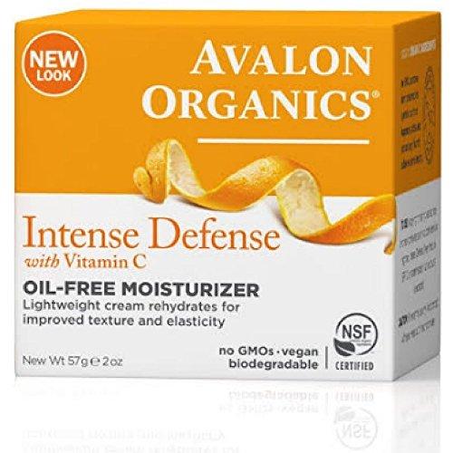 Avalon Organics Intense Defense with Vitamin C, Oil-Free Moisturizer, 2 Ounce (Pack of 2)
