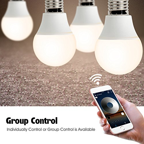 Smart Led Bulb, Warm White 65W Equivalent Dimmable Smart Led Light Bulb can Work with Alexa/Amazon Echo and Google Home.No Hub Required, CE/FCC/UL Listed (2-Pack-6.5W) … by GeekDigg (Image #4)