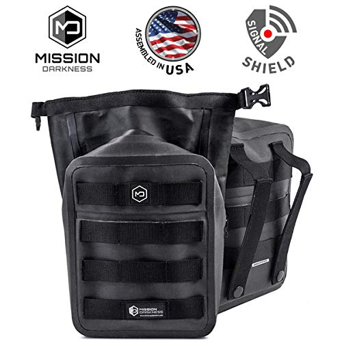 Mission Darkness Dry Shield MOLLE Faraday Pouch - Waterproof Dry Bag for Electronic Device Security & Transport/Signal Blocking/Anti-Tracking/EMP Shield/Data Privacy for Phones, Tablets, Etc. ()