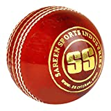 SS League Special Leather Cricket Ball, Red