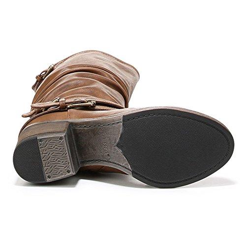 Santana Carlos by PU Western Claudia Carlos Womens Boot Cognac w71EqxBf