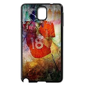 Yearinspace Peyton Manning Mixed Art Pictures and Posters Samsung Galaxy Note 3 Cases, Protection Samsung Galaxy Note 3 Case for Women {Black}