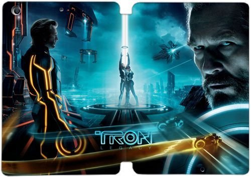 PU Leather Flip] Case Cover for iPad Mini Wallet Case,Tron
