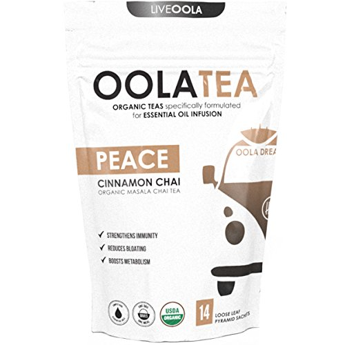 (Oola Tea - PEACE 14 Count | Certified Organic Masala Chai | Reduces Bloating | Strengthens Immunity)