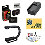 2 Extended Life Replacement Battery Packs for the Canon LP-E12 LPE12 2000MAH Each 4000MAH in Total for The Canon EOS M M2 Rebel SL1 100D DSLR Digital Camera | 2 Batteries In Total + 1 hour AC/DC Rapid Battery Charger + Opteka X-GRIP Action Stabilizing Handle + Deluxe Lens Cleaning Kit + LCD Screen Protectors + Mini Tripod + 47stphoto Microfiber Cloth Photo Print !