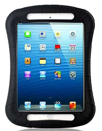 iPad Mini Case, iXCC Shockproof Silicone Protective Case Cover for iPad Mini, Mini 2, Mini 3and iPad Mini Retina Models - Black