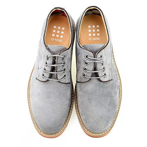 O-NINE Casual Dress Shoes Drving Laceup Shoes Beige Black Brown Gray Navy Red Camel Camo Yoms1300gray bjaFsi1B