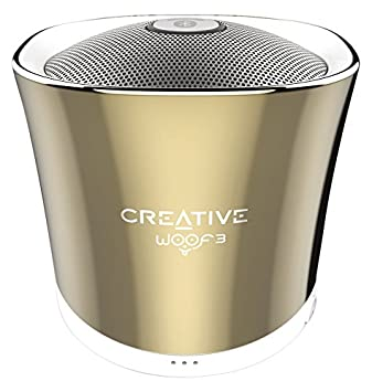 Creative Woof 3 Bluetooth MP3/FLAC Speaker (Autumn Gold) Bluetooth Speakers at amazon