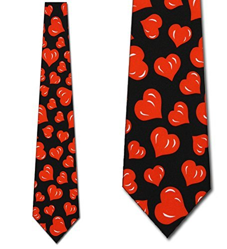 Hearts TIES Valentines Day Men's Neck tie heart (Man Valentine)