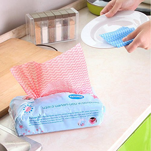 Kitchen Tools & Gadgets - Kc-Cs06 80pcs Disposable Non-Woven Fabric Non-Stick Dishcloth Wiping Rags Cleaning Cloth - Dishrag Textile Material