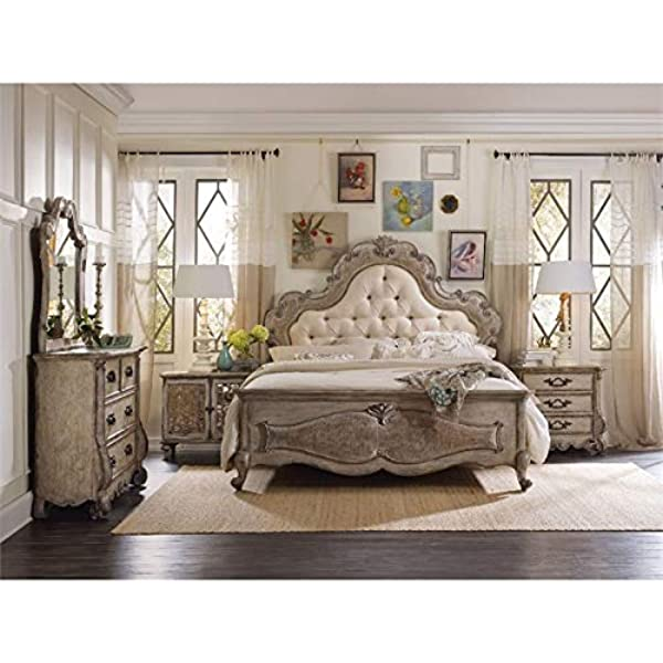 Amazon Com Hooker Furniture Chatelet 3 Piece King Upholstered Panel Bedroom Set Furniture Decor