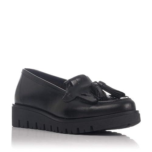 Zapatos De Sport Mocasines Planos Negros 77189: Amazon.es: Zapatos y complementos