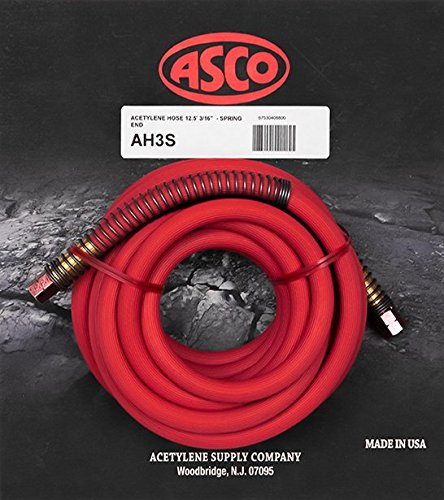 AH3S Acetylene Hose 12.5 Ft with Spring Ends