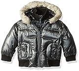 Appaman Boys' Gambit Puffer Coat, Black Steel, 2T