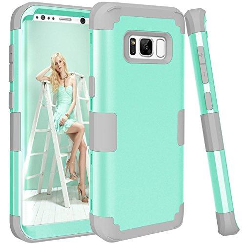 Cheap Cases Galaxy S8 Plus Case,TOPBIN [Ultra Slim] 3 in 1 Premium Slim Lightweight..