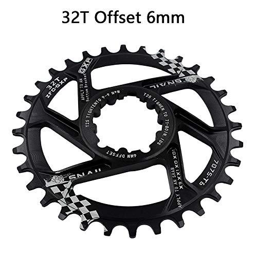 - HEALTHLL MTB GXP Bicycle Crankset Fixed Gear Crank 30T 32T 34T 36T 38T 40T Chainring Chainwhee for Sram Gx Xx1 X1 X9 Gxp Eagle NX 32T Offset 6mm