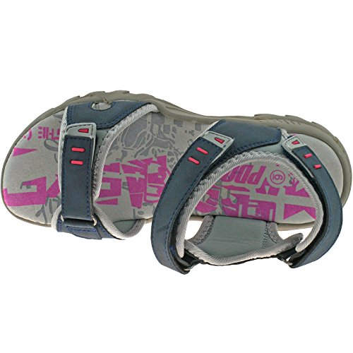 Damen PDQ Marineblau Grau Adventure Trail Walking Klettverschluss Sports Sandalen Größen 45678 Dunkelblau