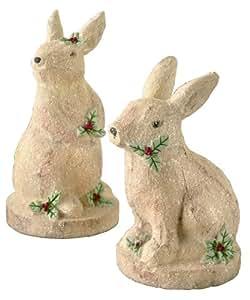 Grasslands Road Bunny Figurine Assortment, 8-Inch, Off-White, Set of 4