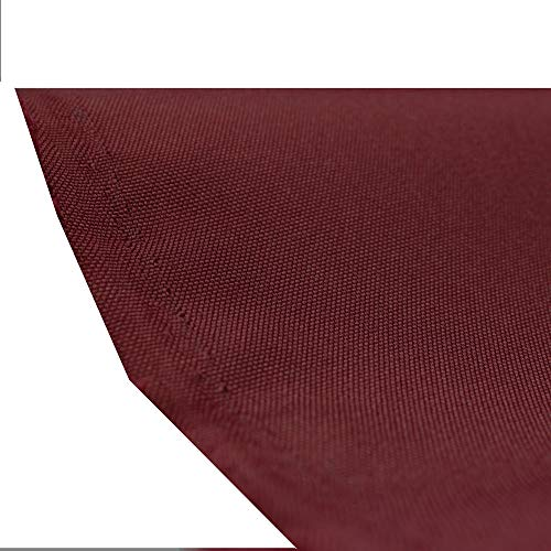 Waterproof Canvas Fabric Outdoor 600 Denier Indoor/Outdoor Fabric by the yard PU Backing UV Protector Canvas Marine Awninig Fabric BURGUNDY Fabric By The Yard