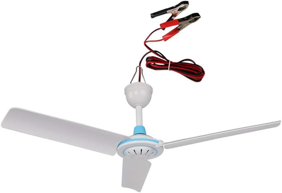 Los aficionados -CivilWea CivilWeaEU DC 12 (V) Ventilador de Techo al Aire Libre/Ventilador de la Brisa/Ventilador del Recorrido/Ventilador de Techo Ahorro de energía/Ventilador de Techo pequeño: Amazon.es: Hogar