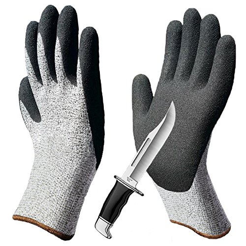 Grip Cut Resistant Gloves, Non-Slip Breathable Work Gloves, Level 5 Protection Comfortable for Garden Construction Woodworking Mechanic Auto Multipurpose Use. ()