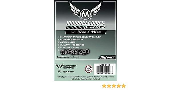 Fundas Mayday - Oversized Magnum Sleeves (Gris - 87x112)