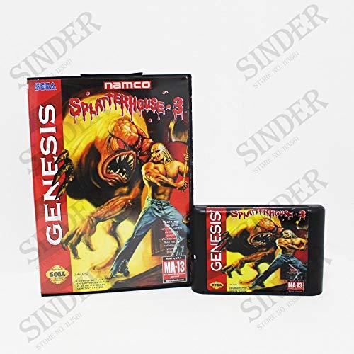 - Value★Smart★Toys - Splatterhouse 3 Boxed Version 16bit MD Game Card for Sega Mega Drive and Genesis