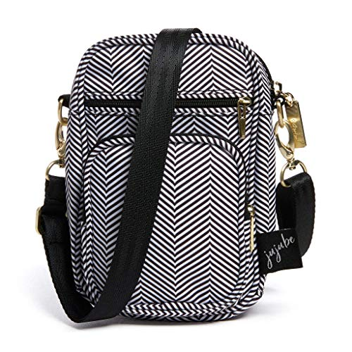 JuJuBe Mini Helix Multi-Functional Diaper Bag | New Edition Queen of The Nile | Converts to Lightweight Crossbody Purse or Compact Messenger Bag, Travel Friendly Accessories