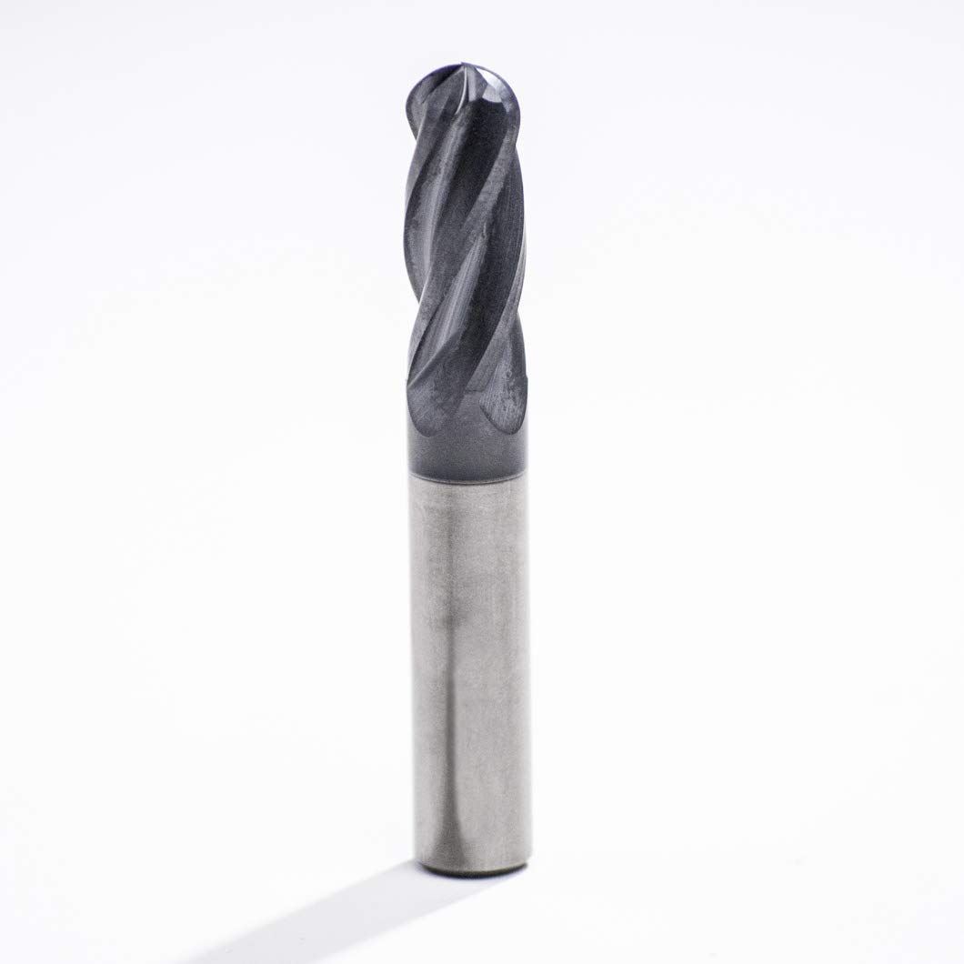 Cutting Diameter 3//16 Over All Lenght 2 Cutting Length 5//8 3//16 4 Flutes Ball End Solid Carbide Endmill