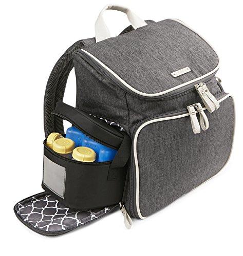 Bananafish Breast Pump Back Pack, Grey Heather by Bananafish (Image #6)