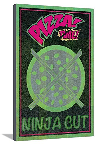 ArtEdge Ninja Cut Pizza 2 Stretched Canvas Print, 36x24 in